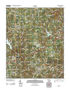 Cowpens South Carolina Historical topographic map, 1:24000 scale, 7.5 X 7.5 Minute, Year 2011