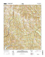 Cross Hill South Carolina Current topographic map, 1:24000 scale, 7.5 X 7.5 Minute, Year 2014 from South Carolina Map Store