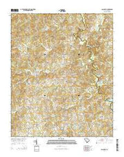 Dacusville South Carolina Current topographic map, 1:24000 scale, 7.5 X 7.5 Minute, Year 2014 from South Carolina Maps Store
