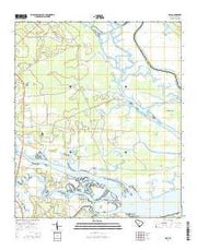 Dale South Carolina Current topographic map, 1:24000 scale, 7.5 X 7.5 Minute, Year 2014 from South Carolina Maps Store