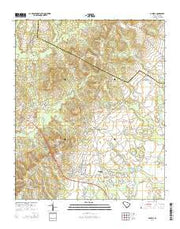 Dalzell South Carolina Current topographic map, 1:24000 scale, 7.5 X 7.5 Minute, Year 2014 from South Carolina Maps Store