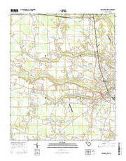 Darlington West South Carolina Current topographic map, 1:24000 scale, 7.5 X 7.5 Minute, Year 2014 from South Carolina Maps Store