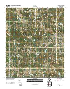 Denmark South Carolina Historical topographic map, 1:24000 scale, 7.5 X 7.5 Minute, Year 2011