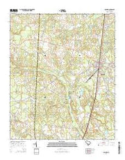 Denmark South Carolina Current topographic map, 1:24000 scale, 7.5 X 7.5 Minute, Year 2014 from South Carolina Maps Store
