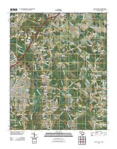 Dillon East South Carolina Historical topographic map, 1:24000 scale, 7.5 X 7.5 Minute, Year 2011
