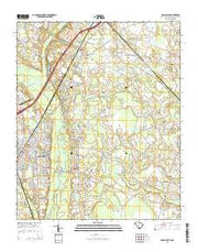 Dillon East South Carolina Current topographic map, 1:24000 scale, 7.5 X 7.5 Minute, Year 2014 from South Carolina Maps Store