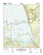 Eadytown South Carolina Current topographic map, 1:24000 scale, 7.5 X 7.5 Minute, Year 2014 from South Carolina Map Store