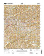 Easley South Carolina Current topographic map, 1:24000 scale, 7.5 X 7.5 Minute, Year 2014 from South Carolina Map Store