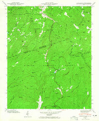 Eastatoe Gap North Carolina Historical topographic map, 1:24000 scale, 7.5 X 7.5 Minute, Year 1946