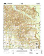 Eastover South Carolina Current topographic map, 1:24000 scale, 7.5 X 7.5 Minute, Year 2014 from South Carolina Map Store