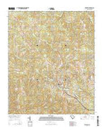 Edgefield South Carolina Current topographic map, 1:24000 scale, 7.5 X 7.5 Minute, Year 2014 from South Carolina Map Store