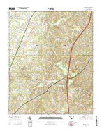 Edgemoor South Carolina Current topographic map, 1:24000 scale, 7.5 X 7.5 Minute, Year 2014 from South Carolina Map Store