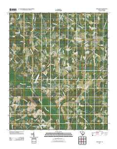 Ehrhardt South Carolina Historical topographic map, 1:24000 scale, 7.5 X 7.5 Minute, Year 2011