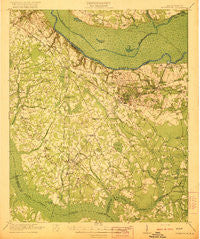 Eutawville South Carolina Historical topographic map, 1:62500 scale, 15 X 15 Minute, Year 1921