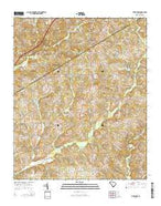 Five Forks South Carolina Current topographic map, 1:24000 scale, 7.5 X 7.5 Minute, Year 2014 from South Carolina Map Store