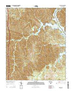 Flint Hill South Carolina Current topographic map, 1:24000 scale, 7.5 X 7.5 Minute, Year 2014 from South Carolina Map Store