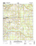 Florence East South Carolina Current topographic map, 1:24000 scale, 7.5 X 7.5 Minute, Year 2014 from South Carolina Map Store