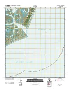 Fripp Inlet South Carolina Historical topographic map, 1:24000 scale, 7.5 X 7.5 Minute, Year 2011
