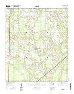 Furman South Carolina Current topographic map, 1:24000 scale, 7.5 X 7.5 Minute, Year 2014 from South Carolina Map Store