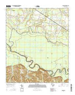 Gadsden South Carolina Current topographic map, 1:24000 scale, 7.5 X 7.5 Minute, Year 2014 from South Carolina Map Store
