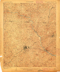 Gaffney South Carolina Historical topographic map, 1:62500 scale, 15 X 15 Minute, Year 1909