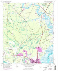 Georgetown North South Carolina Historical topographic map, 1:24000 scale, 7.5 X 7.5 Minute, Year 1943