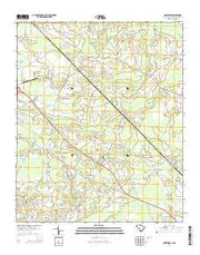 Goretown South Carolina Current topographic map, 1:24000 scale, 7.5 X 7.5 Minute, Year 2014 from South Carolina Maps Store