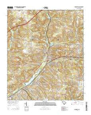 Graniteville South Carolina Current topographic map, 1:24000 scale, 7.5 X 7.5 Minute, Year 2014 from South Carolina Maps Store