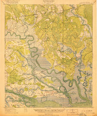 Green Pond South Carolina Historical topographic map, 1:62500 scale, 15 X 15 Minute, Year 1918