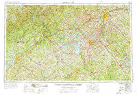 Greenville South Carolina Historical topographic map, 1:250000 scale, 1 X 2 Degree, Year 1954