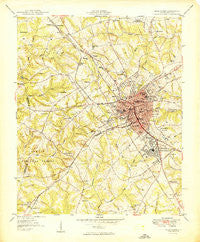 Greenwood South Carolina Historical topographic map, 1:24000 scale, 7.5 X 7.5 Minute, Year 1949