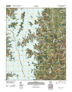 Hartwell NE South Carolina Historical topographic map, 1:24000 scale, 7.5 X 7.5 Minute, Year 2011