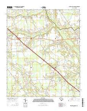Indian Camp Branch South Carolina Current topographic map, 1:24000 scale, 7.5 X 7.5 Minute, Year 2014 from South Carolina Maps Store