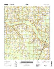Indiantown South Carolina Current topographic map, 1:24000 scale, 7.5 X 7.5 Minute, Year 2014 from South Carolina Maps Store