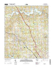 Inman South Carolina Current topographic map, 1:24000 scale, 7.5 X 7.5 Minute, Year 2014 from South Carolina Maps Store