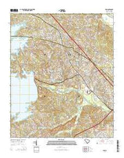 Irmo South Carolina Current topographic map, 1:24000 scale, 7.5 X 7.5 Minute, Year 2014 from South Carolina Maps Store
