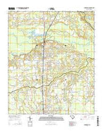 Johnsonville South Carolina Current topographic map, 1:24000 scale, 7.5 X 7.5 Minute, Year 2014 from South Carolina Map Store