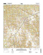 Johnston South Carolina Current topographic map, 1:24000 scale, 7.5 X 7.5 Minute, Year 2014 from South Carolina Map Store