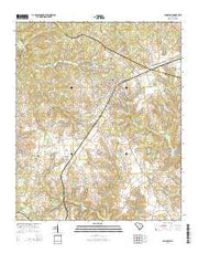 Johnston South Carolina Current topographic map, 1:24000 scale, 7.5 X 7.5 Minute, Year 2014 from South Carolina Maps Store