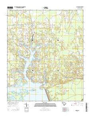 Jordan South Carolina Current topographic map, 1:24000 scale, 7.5 X 7.5 Minute, Year 2014 from South Carolina Maps Store