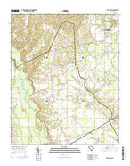 Kellytown South Carolina Current topographic map, 1:24000 scale, 7.5 X 7.5 Minute, Year 2014 from South Carolina Map Store