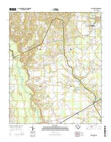 Kellytown South Carolina Current topographic map, 1:24000 scale, 7.5 X 7.5 Minute, Year 2014