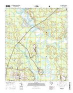 Kittredge South Carolina Current topographic map, 1:24000 scale, 7.5 X 7.5 Minute, Year 2014 from South Carolina Map Store