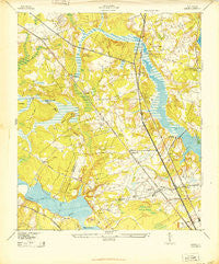 Ladson South Carolina Historical topographic map, 1:24000 scale, 7.5 X 7.5 Minute, Year 1943