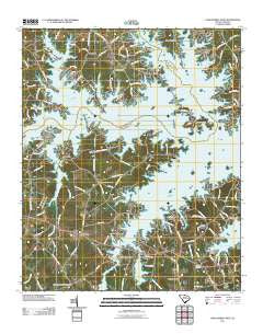 Lake Murray West South Carolina Historical topographic map, 1:24000 scale, 7.5 X 7.5 Minute, Year 2011