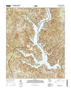 Lake Wylie South Carolina Current topographic map, 1:24000 scale, 7.5 X 7.5 Minute, Year 2014 from South Carolina Map Store