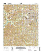 Lancaster South Carolina Current topographic map, 1:24000 scale, 7.5 X 7.5 Minute, Year 2014 from South Carolina Map Store