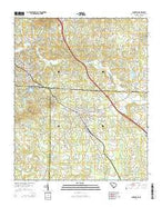 Landrum South Carolina Current topographic map, 1:24000 scale, 7.5 X 7.5 Minute, Year 2014 from South Carolina Map Store