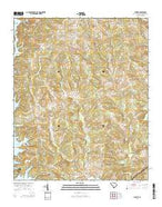 Latimer South Carolina Current topographic map, 1:24000 scale, 7.5 X 7.5 Minute, Year 2014 from South Carolina Map Store