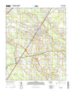 Latta South Carolina Current topographic map, 1:24000 scale, 7.5 X 7.5 Minute, Year 2014 from South Carolina Map Store